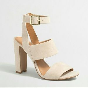 💥FIRM💥J.Crew Nude Suede Strappy Heeled Sandals